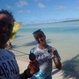 Aitutaki Marathon Emanuala Bacchetti ed Ivan Allocchio